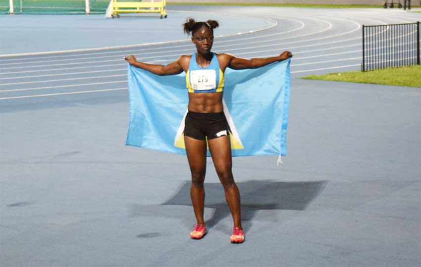 Image: CYG Sprint Queen Julien Alfred won a gold. (Photos by: Terry Finistere)