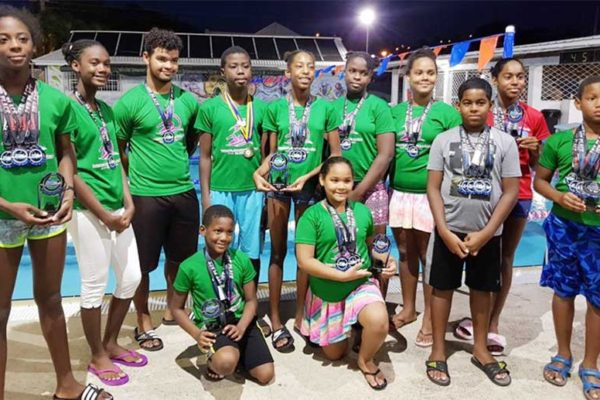 Image: Lightning Aquatics Swim Club's outstanding performers. (PHOTO: LA)