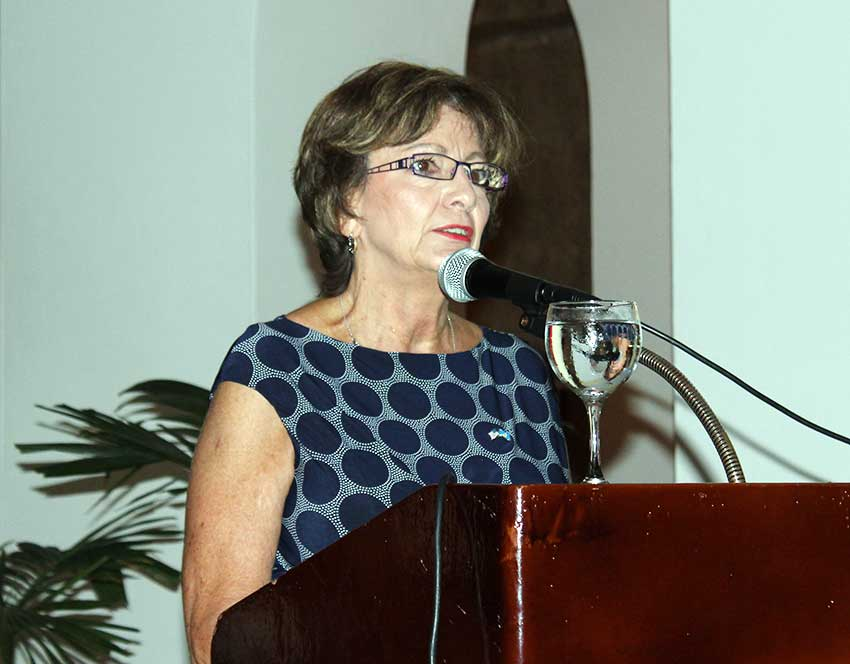 Image of United States Ambassador to Barbados and the OECS, Linda Taglialatela