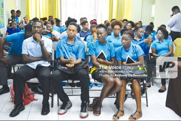 Image: Team Saint Lucia for Windward Islands Games at Thursday's final briefing. (PHOTO: Anthony De Beauville)