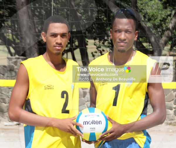 img: (l-r) Darnell Eudoxie, Tervin St. Jean and Joseph Clercent. (Photo: Anthony De Beauville)