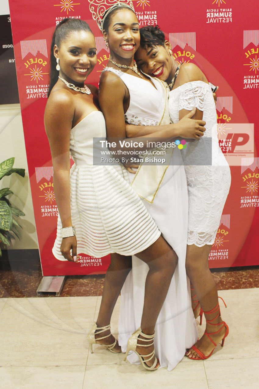 img: Carnival Queen Chancy Fontenelle (centre) continues to receive love and adoration.
