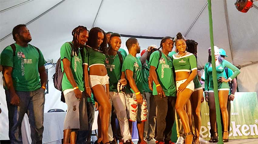 Image: Some of the participants with the Heineken ladies.