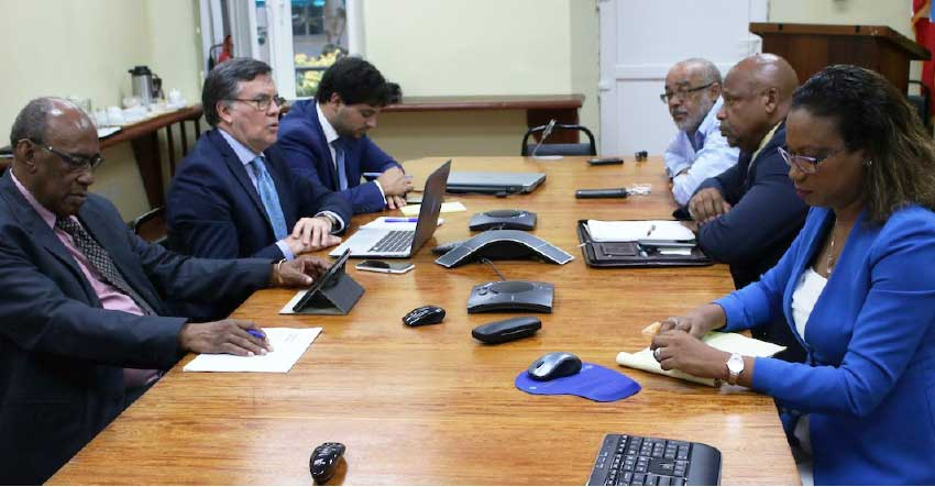 Image: Otero (left centre) meets stakeholders.