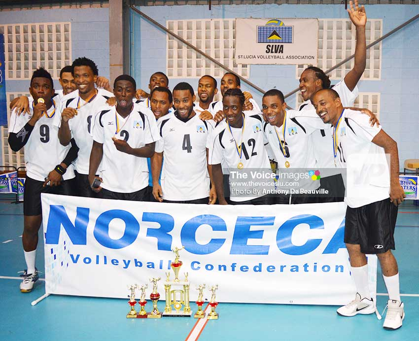 Image: Team Saint Lucia celebrates their big victory. (Photo: Anthony De Beauville)