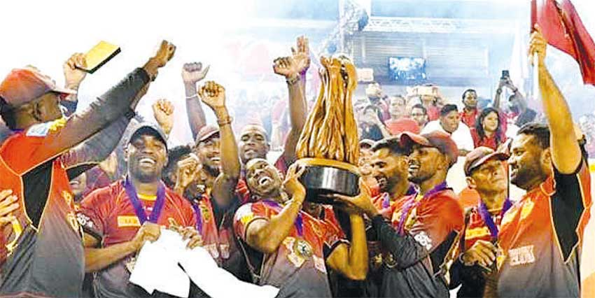 Image of CPL Champions, Trinbago Knight Riders celebrate. (PHOTO: CPL)