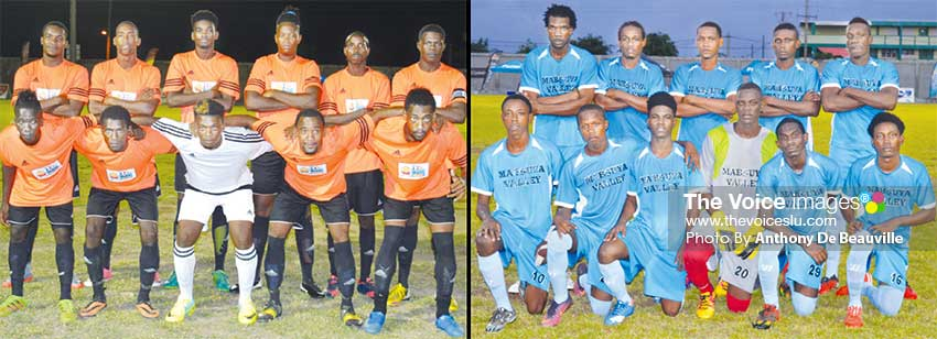 Image: (L-R) Canaries and Mabouya Valley will meet in quarterfinals number two. (PHOTO: Anthony De Beauville)
