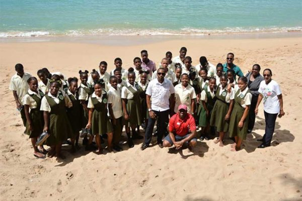Image: Ciceron Secondary School students at Sandals Regency Golf Resort and Spa as part of ICC activities.