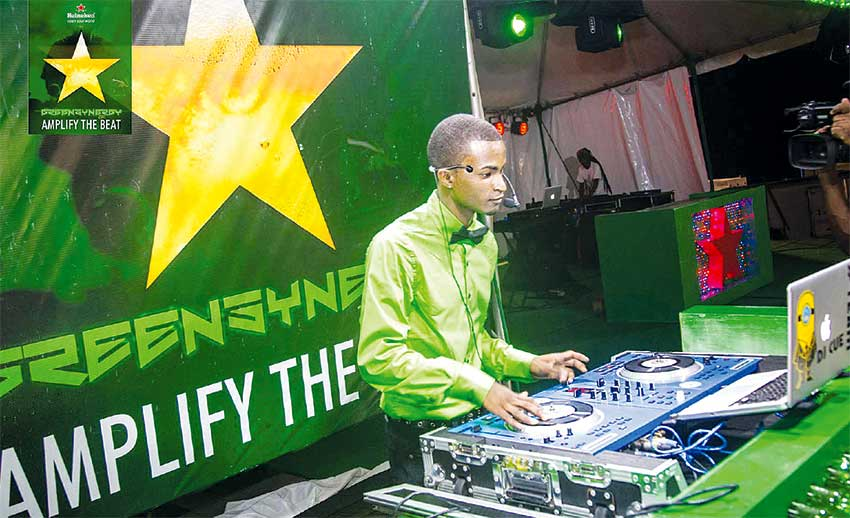 Image: DJ Cue: New to the competition but one of the most entertaining DJs at the semifinals.