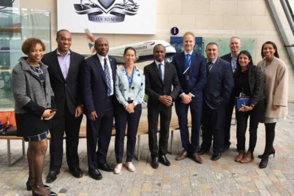Image: Saint Lucia delegation with British Airways officials.