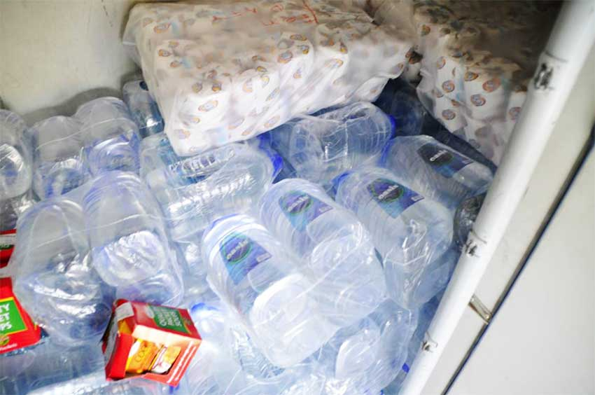 Image: Some of the relief supplies taken in on LIAT relief flight.