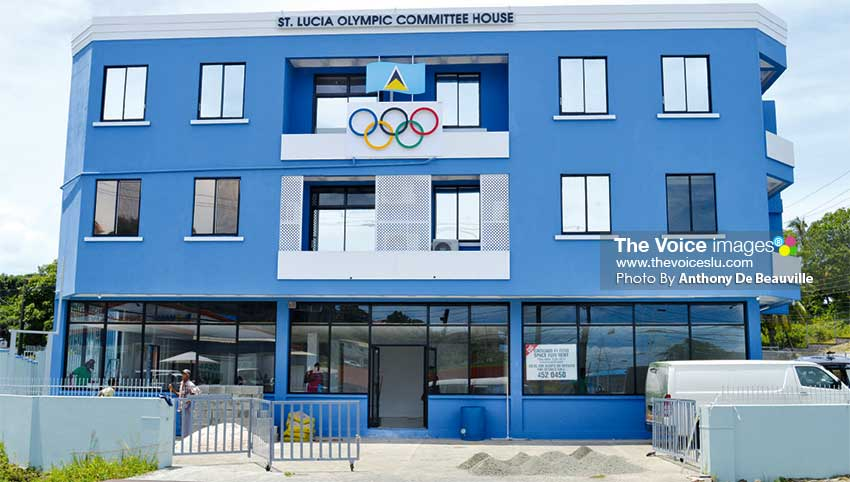 Image: St. Lucia Olympic Committee Inc.'s new headquarters at Vide Boutielle. (PHOTO: Anthony De Beauville)
