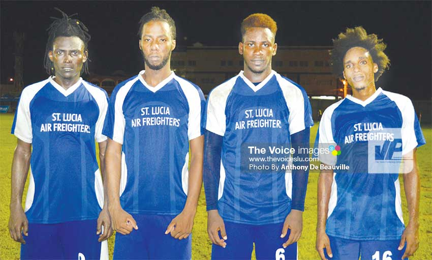 Image: (L-R) Troy Greenidge, Amaris Lorde, Melvin Doxilly and Elijah Louis. (PHOTO: Anthony De Beauville)