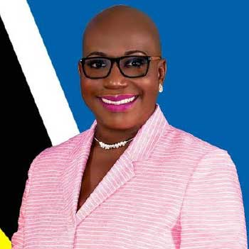 Image of Education Minister, Dr. Gale Rigobert