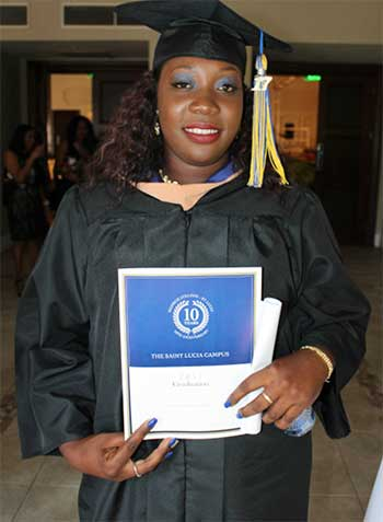 Image: Dominican student, Ashley Celestine, is trying to make up for her losses.