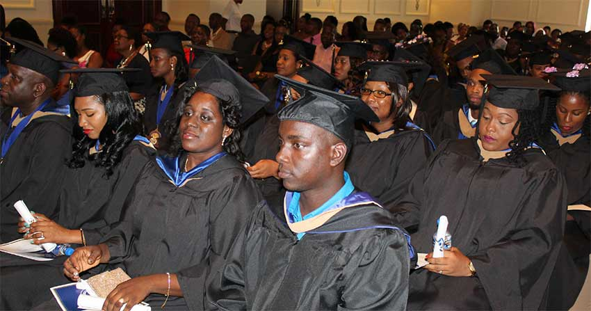 Image: Graduates of this year's class were told to make the world a better place to live and work.