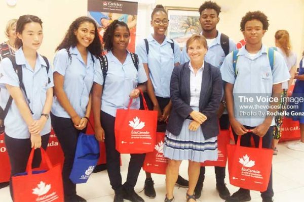 Image: High Commissioner Marie Legault with Prospective Students. [PHOTO: By Rochelle Gonzales]