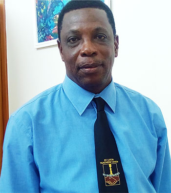 Image of President of the St. Lucia Teachers Union (SLTA), Julian Monrose