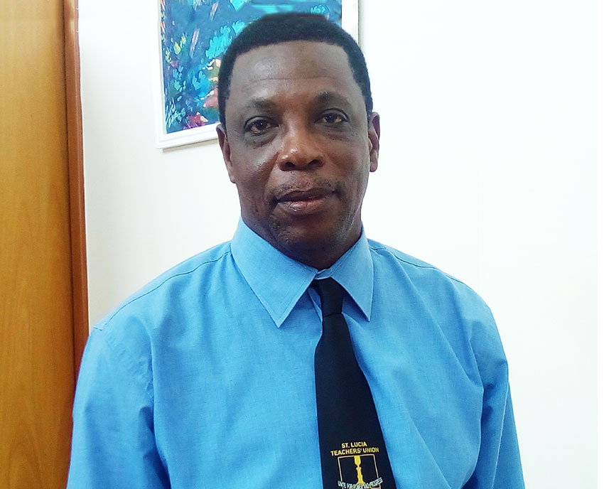 Image of President of the St. Lucia Teachers Union (SLTA), Julian Monrose [PHOTO: PhotoMike]