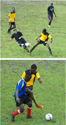 Image: (TOP-bottom) Some of the showpiece in the preliminary matches of the soccer-rama between Marina Massive and Northern C, Police and Northern B. (Photo: Anthony De Beauville)