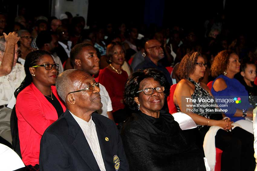 Image: Governor General Dame Pearlette Louisy was among those making up the large audience.