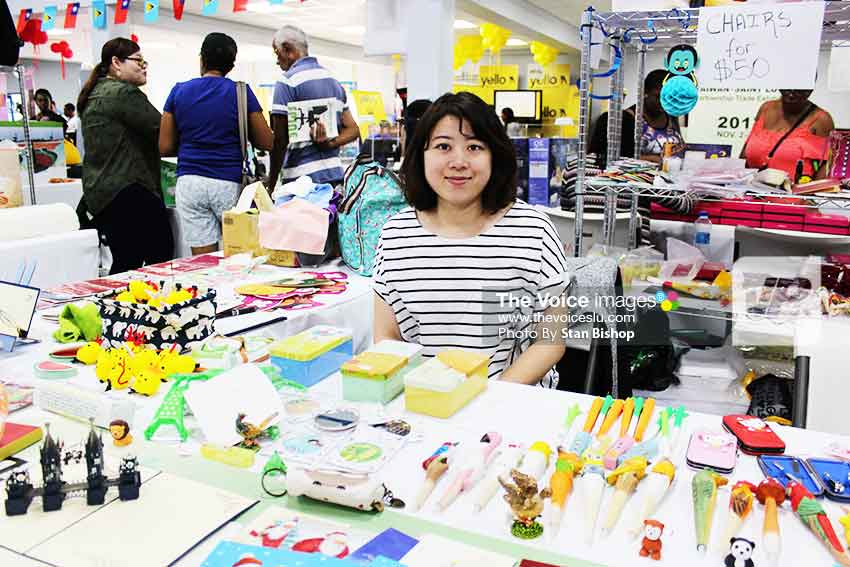Image: A Taiwanese booth offering a wide range of novelty items. [PHOTO: Stan Bishop]