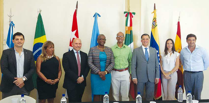 Image: Local representatives and members of the diplomatic corps.
