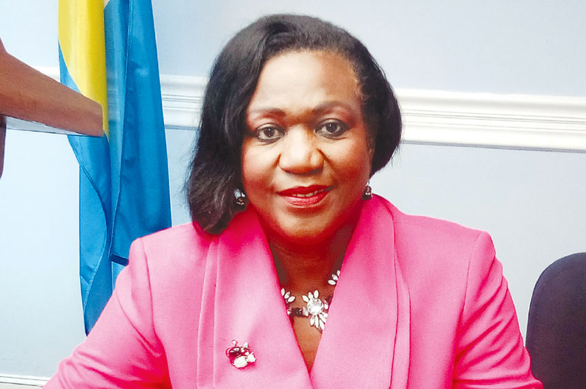 Image of National Awards Committee's chairperson, Senator Mauricia Thomas-Francis