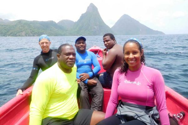 Image: Members of the Coral Restoration Project.