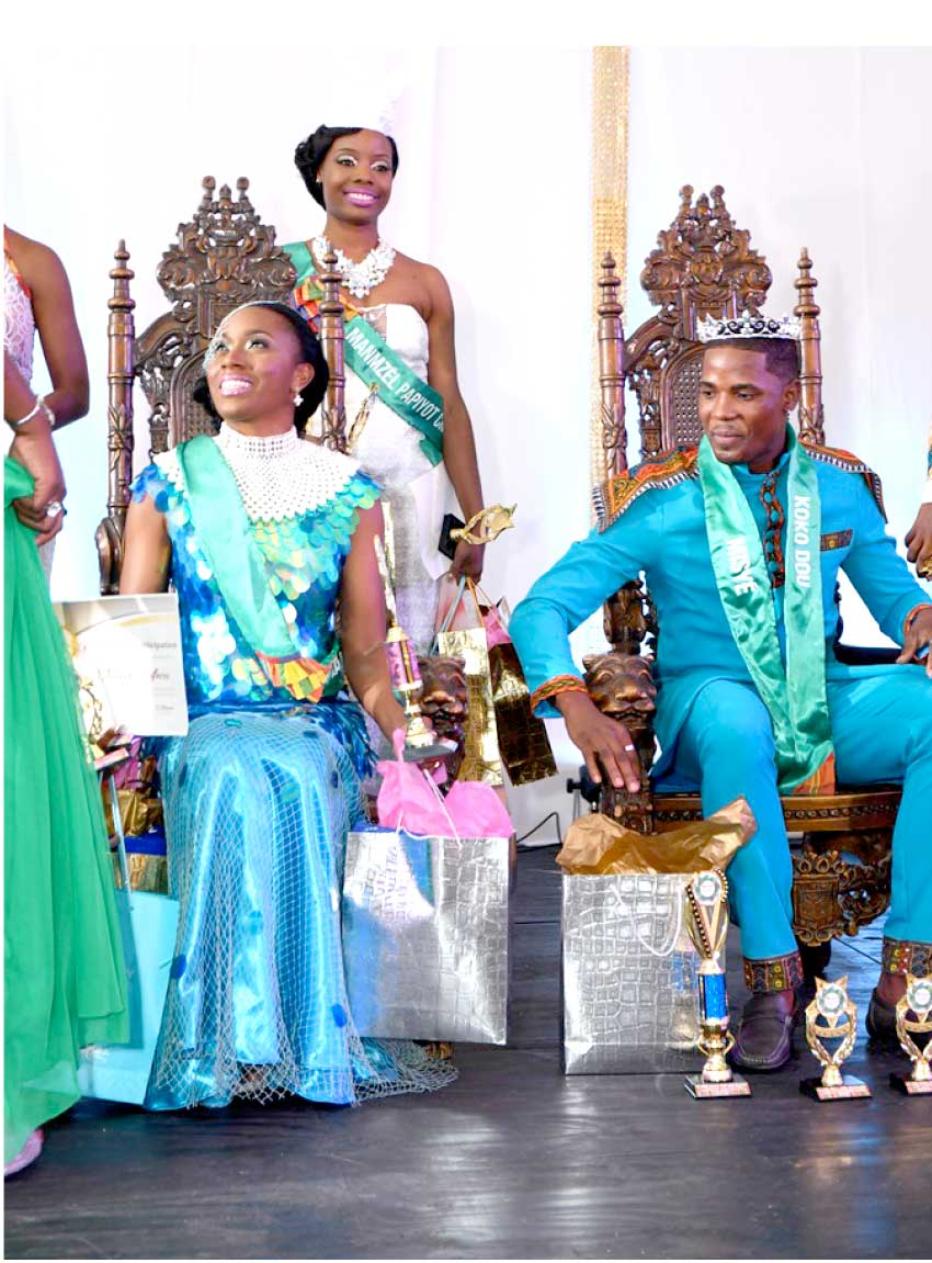 Image of Niecer Sufferen and Giovanni Ermay – Mr. and Ms. Kweyol 2017.