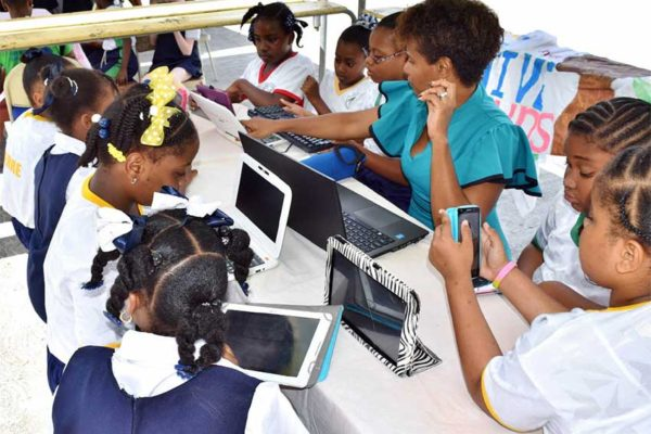 Image: Students and teachers alike enjoyed a super-fast connection from Flow on International Internet Day.