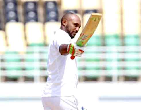Image: West Indies batsman Sunil Ambris scored 153 in the 1st innings