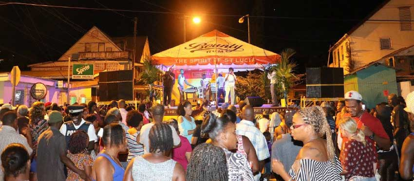 Image: Calypsonian Herb Black performs for the large crowd last week Friday.