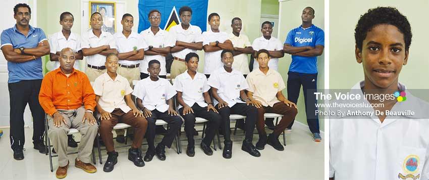 Image: (L-R) Second place team Saint Lucia; Captain Akeem Auguste scored 138 against Grenada. (PHOTO: Anthony De Beauville)
