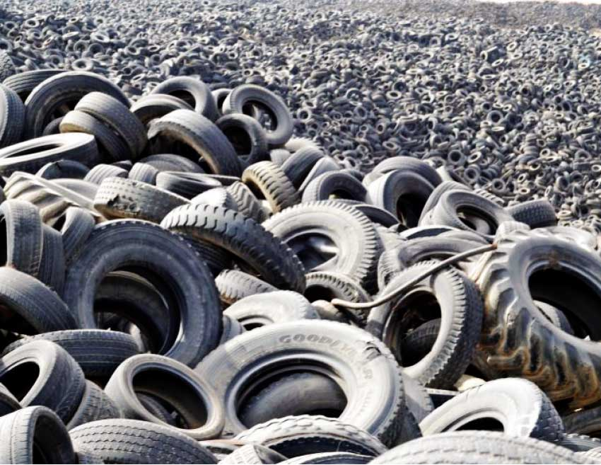 Image of Discarded tyres