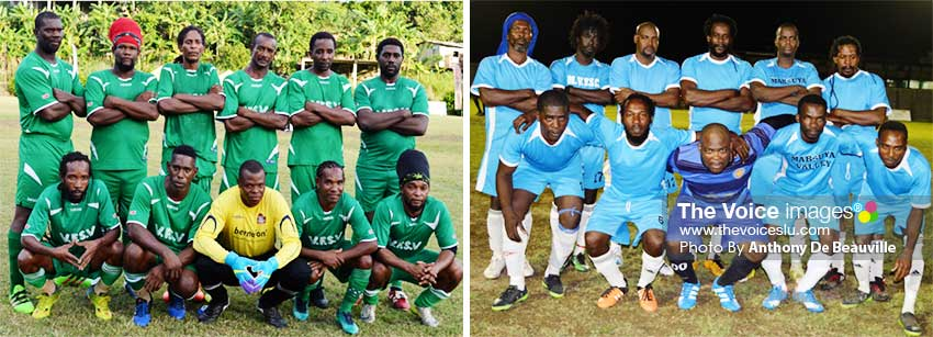 Image: (L-R) Group A quarterfinalists Vieux Fort South and Valley Ledgens.l(Photo: Anthony De Beauville)