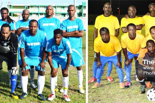 Image: (L-R) Group D quarterfinalists Gros Islet and Micoud. (PHOTO: Anthony De Beauville)
