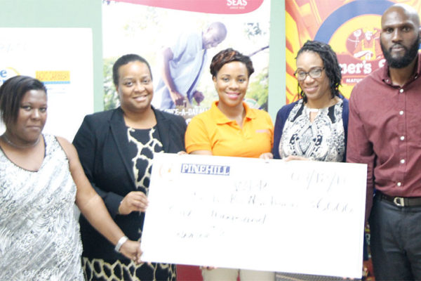 Image: Presentation of cheque by PCD representatives.