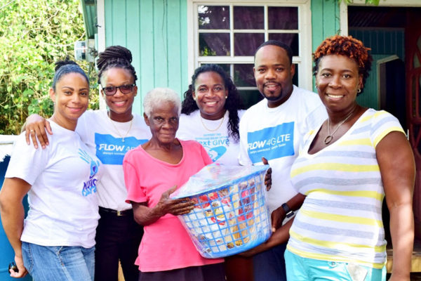 Image: Team Flow and the Choiseul Constituency Council presented a Christmas hamper to this Balca family.