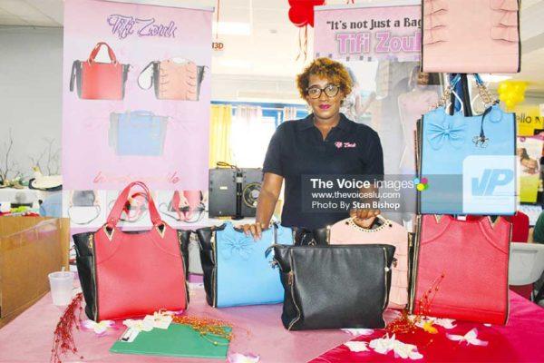 Image: Tifi Zouk's Noelina St. Ange is not your average bag lady. [PHOTO: Stan Bishop]