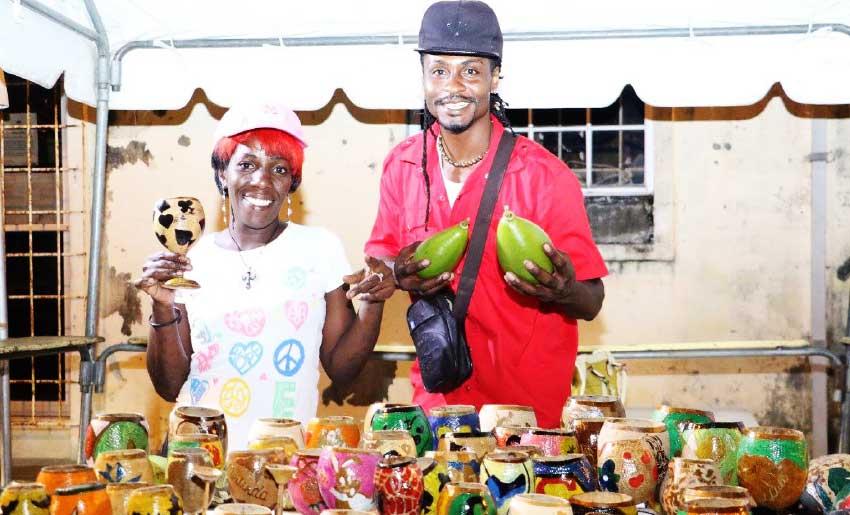 Image of Vendors at last week's Anse la Raye Fish Friday.