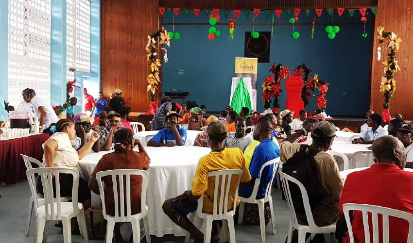 Image: Boxing Day lunch at the Castries Town Hall.