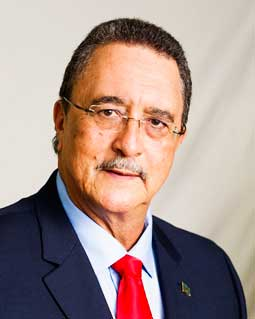 Image of Dr. Kenny D. Anthony, former Prime Minister and Parliamentary Representative for Vieux Fort South
