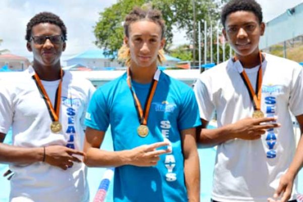 Image: (l-r) Jamaar Archibald, TerrelMonplaisir, JayhanOdlum-Smith and Devin Boodha. (Photo: Anthony De Beauville)