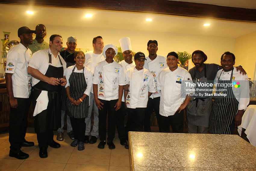 Image of members of the national culinary team.