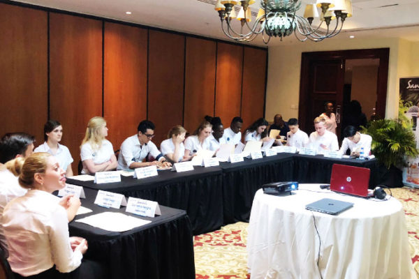 Image: A section of the new interns at Sandals Resorts in Saint Lucia at orientation last Friday at Sandals Grande Saint Lucian Spa & Beach Resort