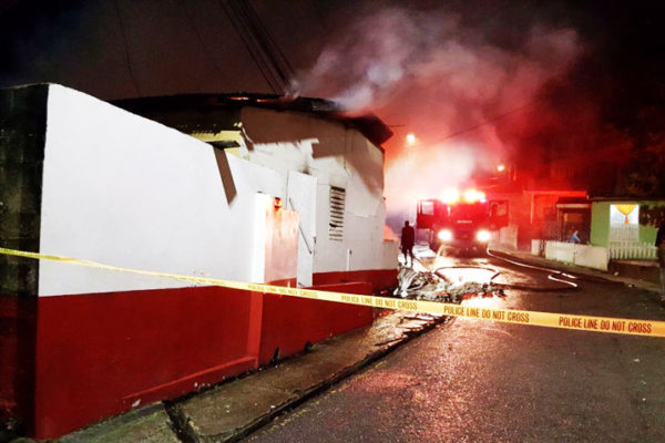 The scene of the Cozy corner fire