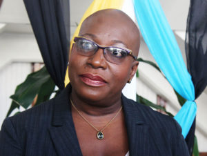 Image of Education Minister Dr. Gale Rigobert.