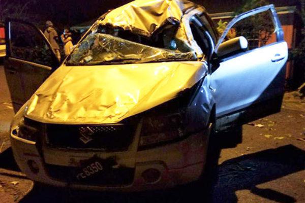Image of fatal accident on La Retraite road