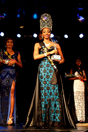 Image of this year's Miss Independence, Kurnisha Augustus, of Dennery. [PHOTO: Stan Bishop]